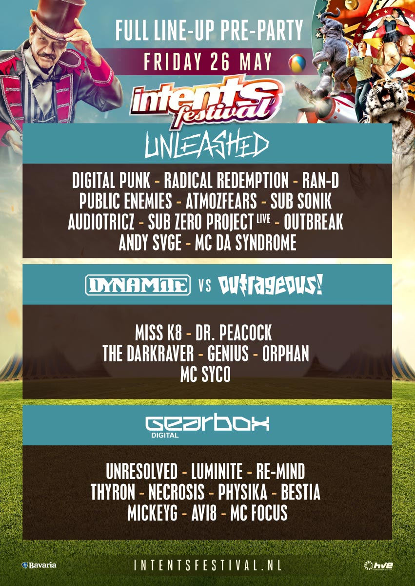 Intens Festival 2017 line-up Pre Party | Festival Lovers