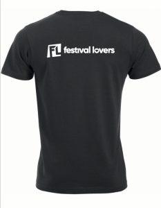 T-shirt black Festival Lovers
