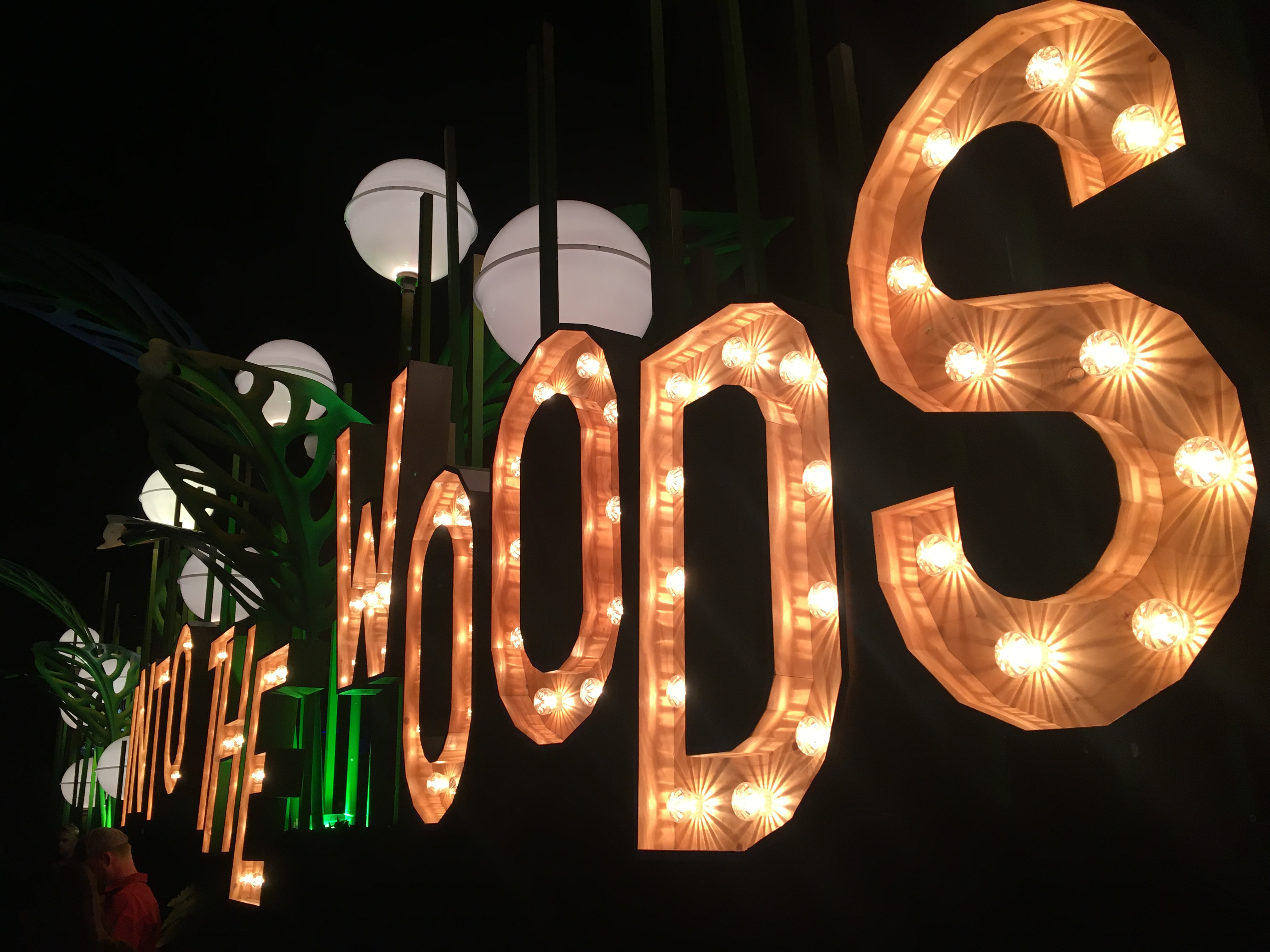 Neonlichten op een festival.